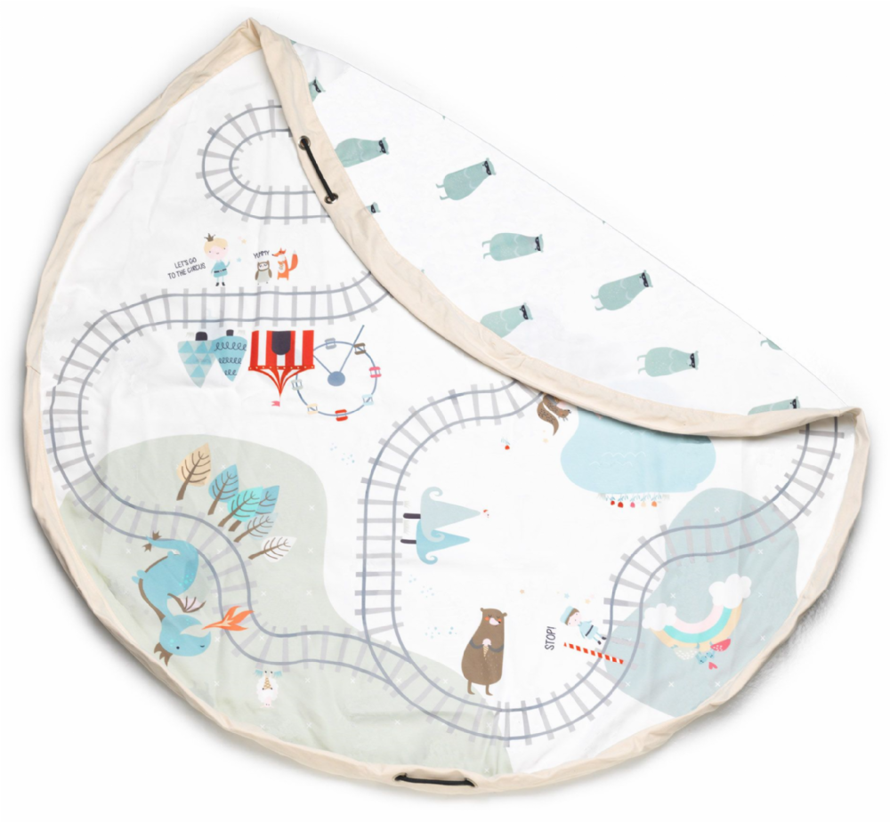 Fantasy Train Map - Play & Go, Toy Storage Bag